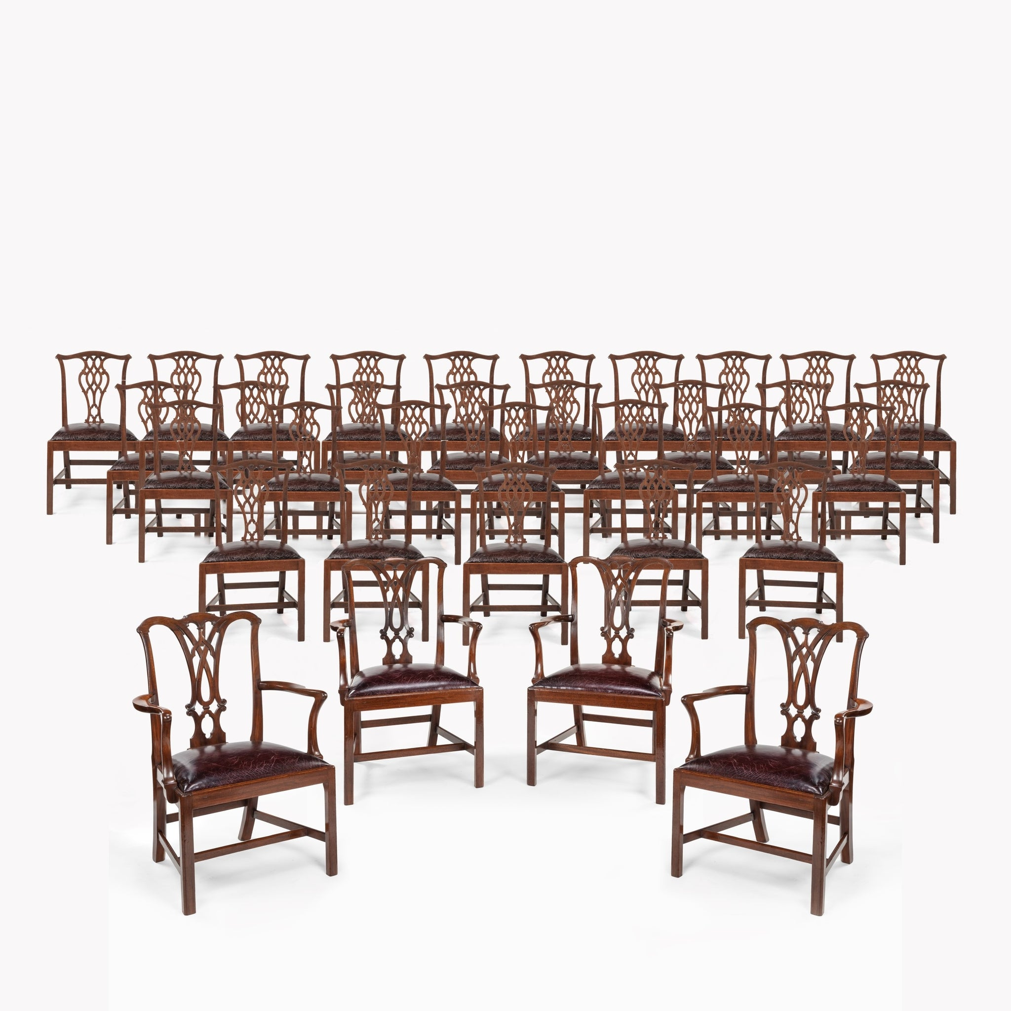 An Extensive Set of 34 Mahogany Chairs by Charles Baker