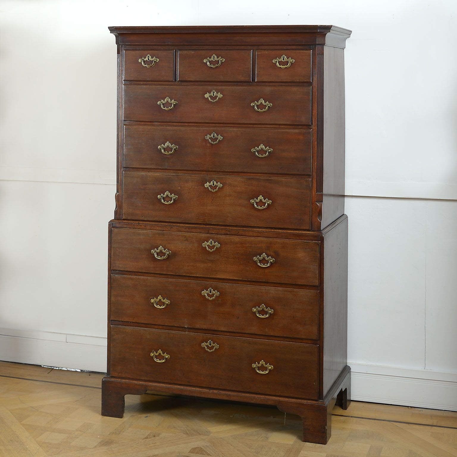 George II Mahogany Chest on Chest