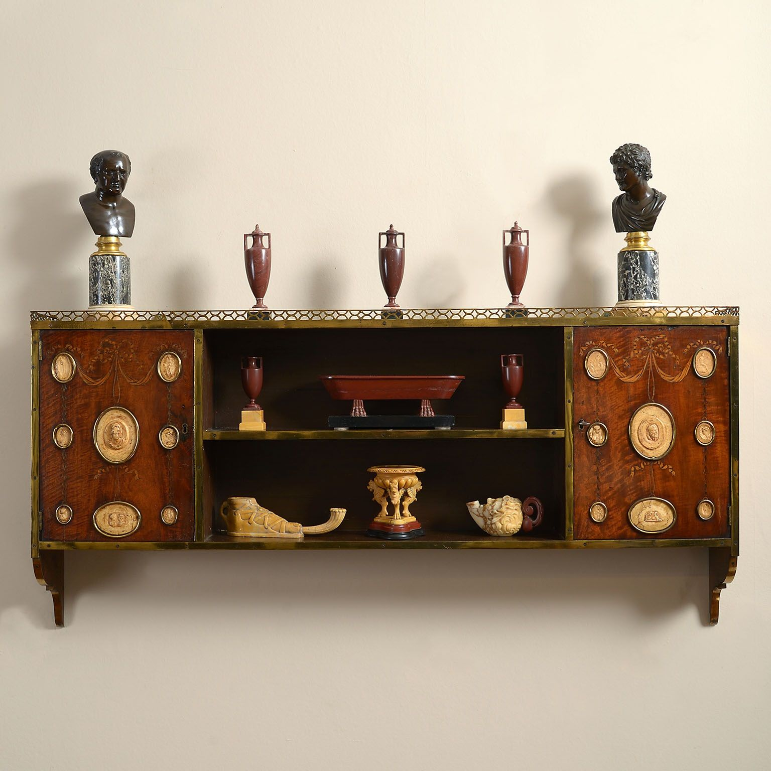 Neo-Classical Collectors Cabinet
