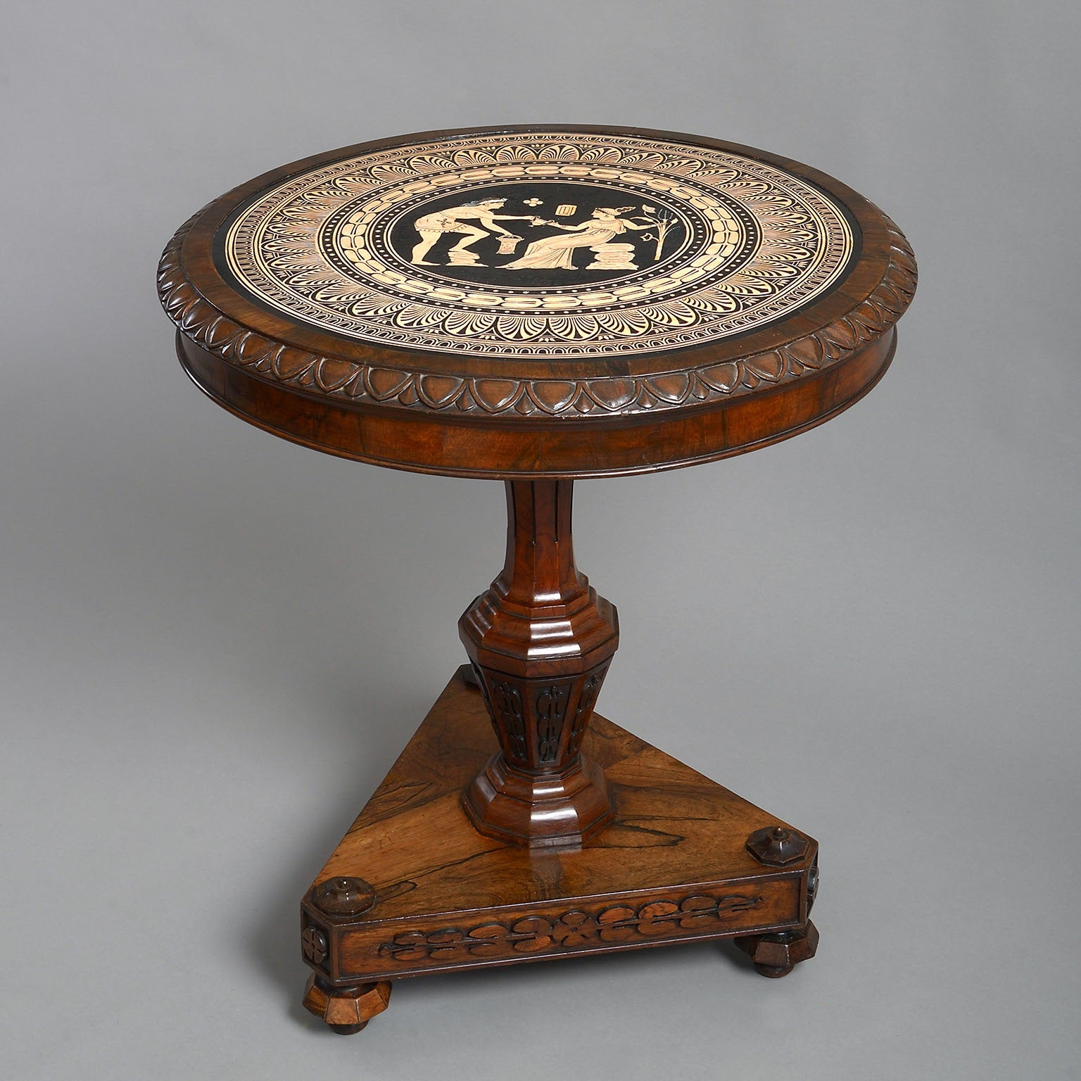 The Coghill Centre Table with a Neo-Classical Ceramic Top