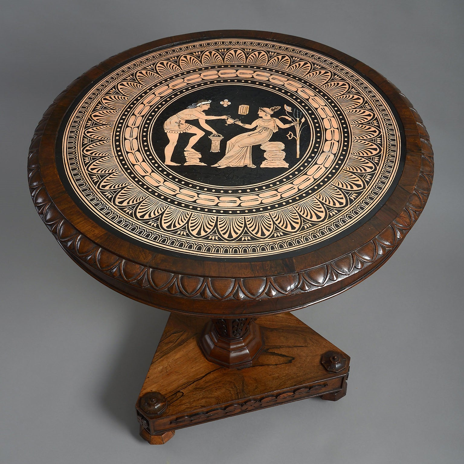 The Coghill Centre Table with a Neo-Classical Ceramic Top by W.T. Copeland