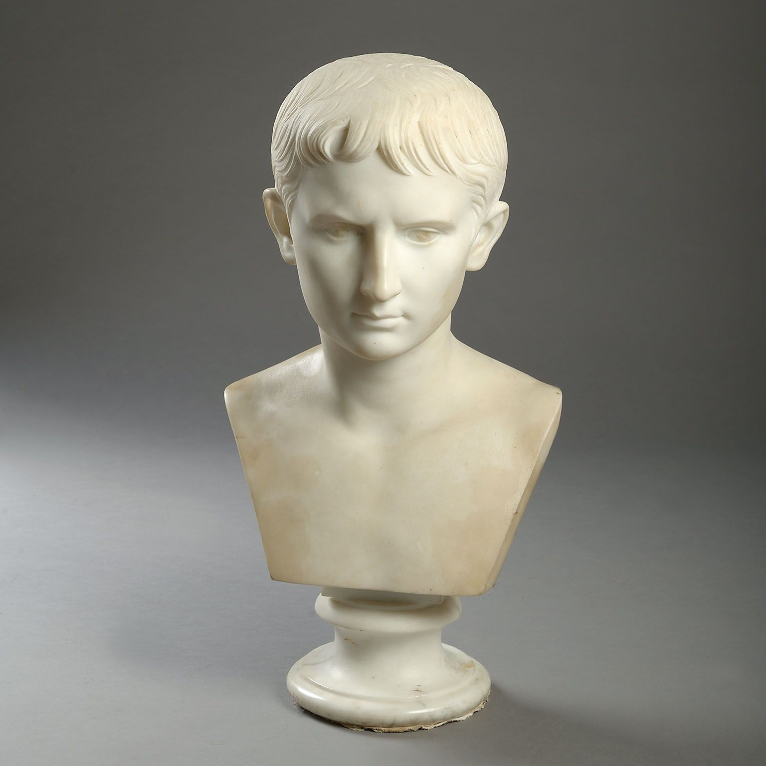 Marble Bust of the Young Augustus