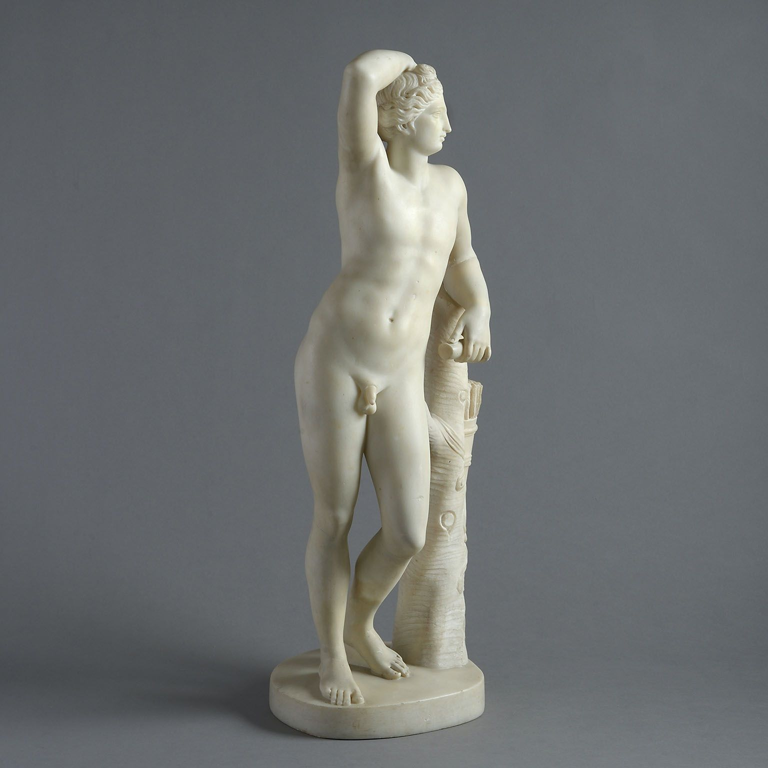 White Marble Figure of the Apollino