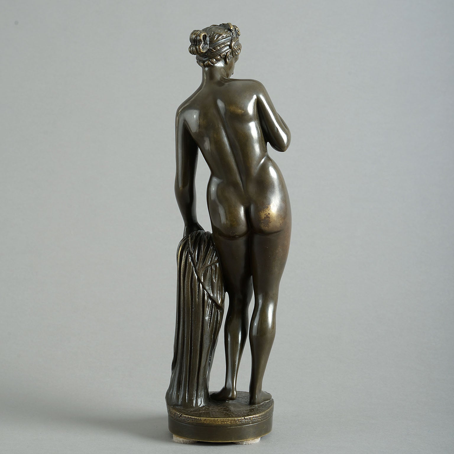 Bronze figure, after Bertel Thorvaldsen, Venus with Eris's Apple