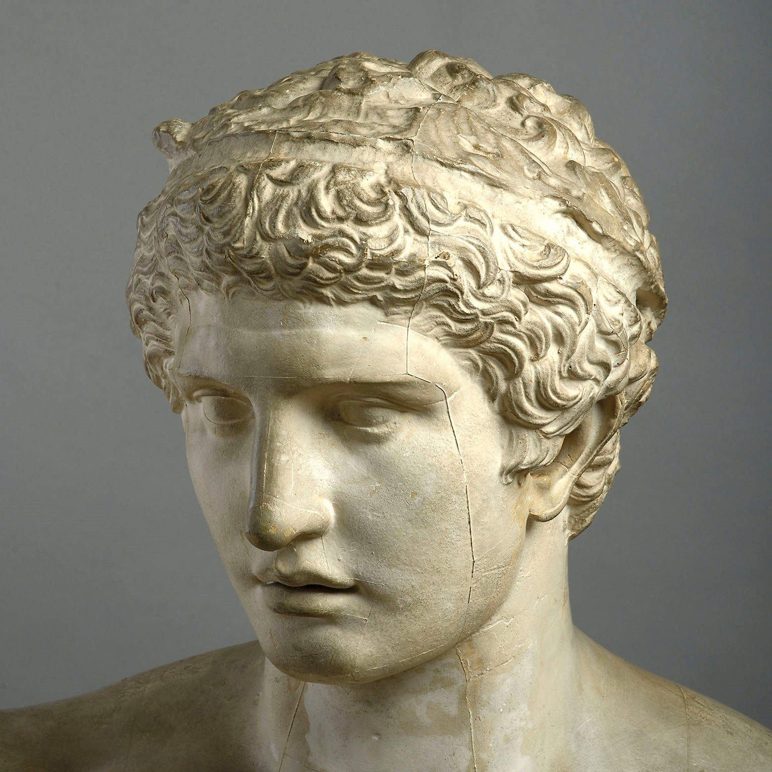 A Large Plaster Cast Bust Of Hermes by D. Brucciani & Co