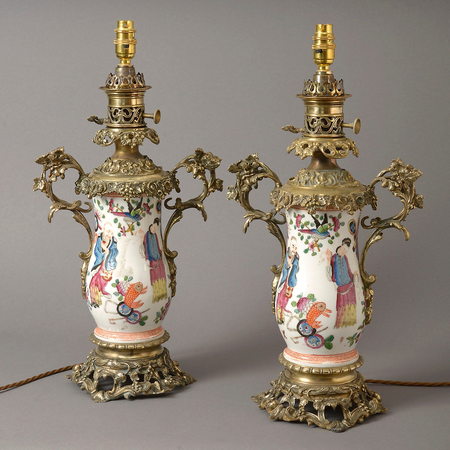 Pair of Late 19th Century French Lamps