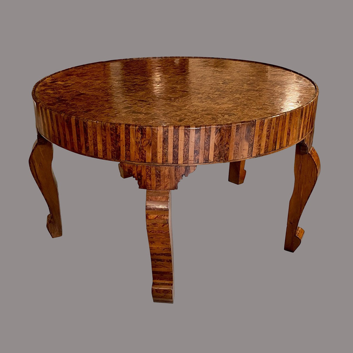 An Impressive Parquetry Thuya Wood Centre Table