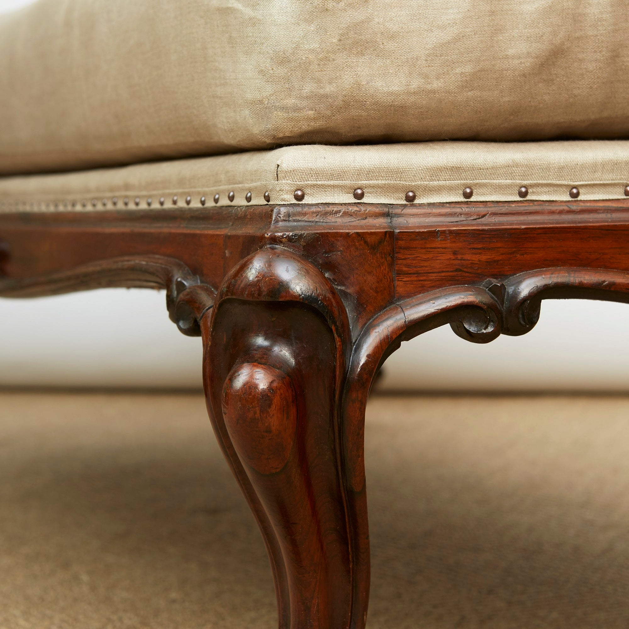 Large Early Victorian Goncalo Alves Centre Stool