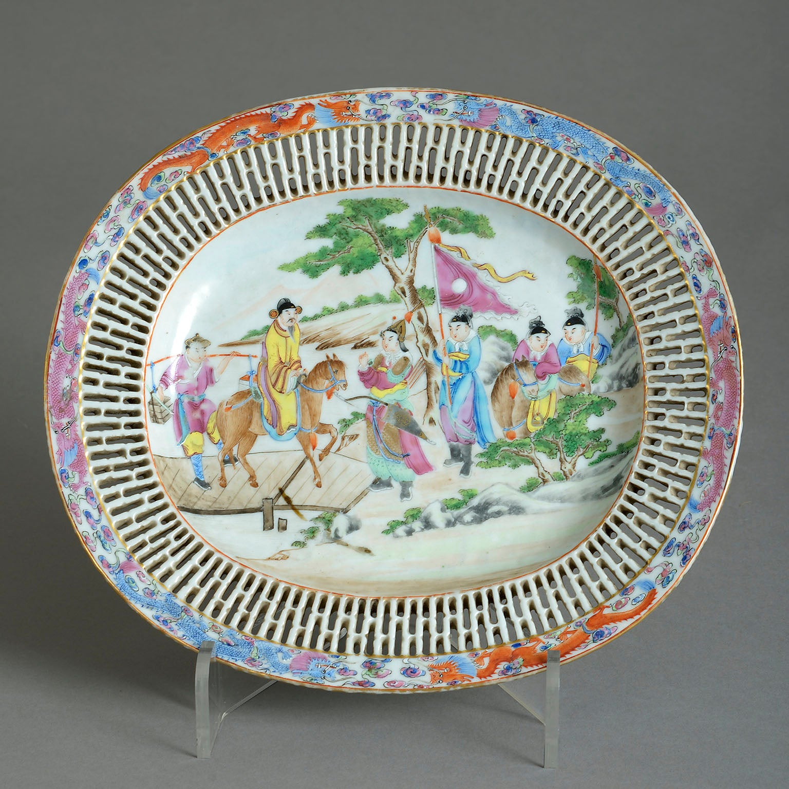 Chinese Export Oval Dish