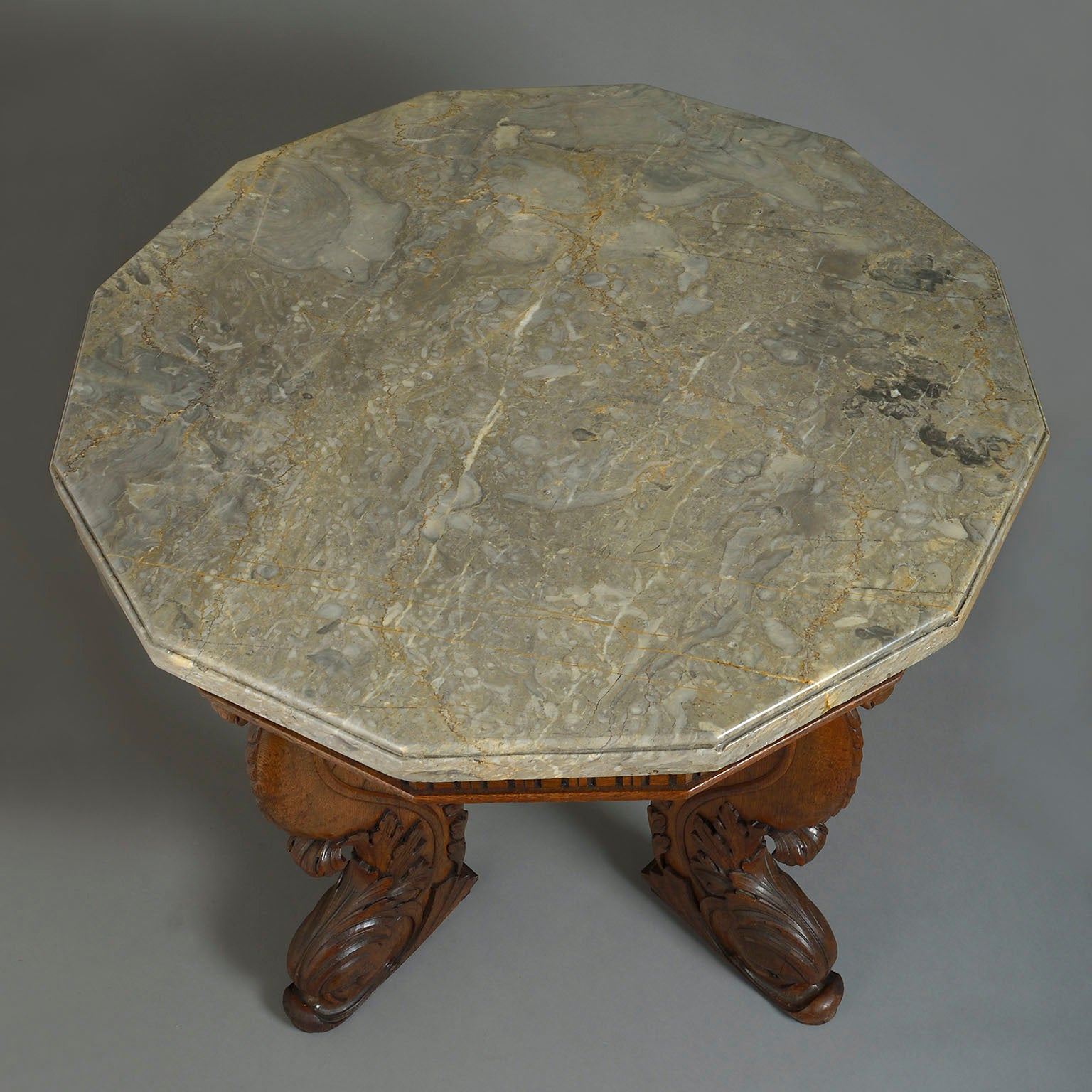 A Baronial Carved Oak Centre Table