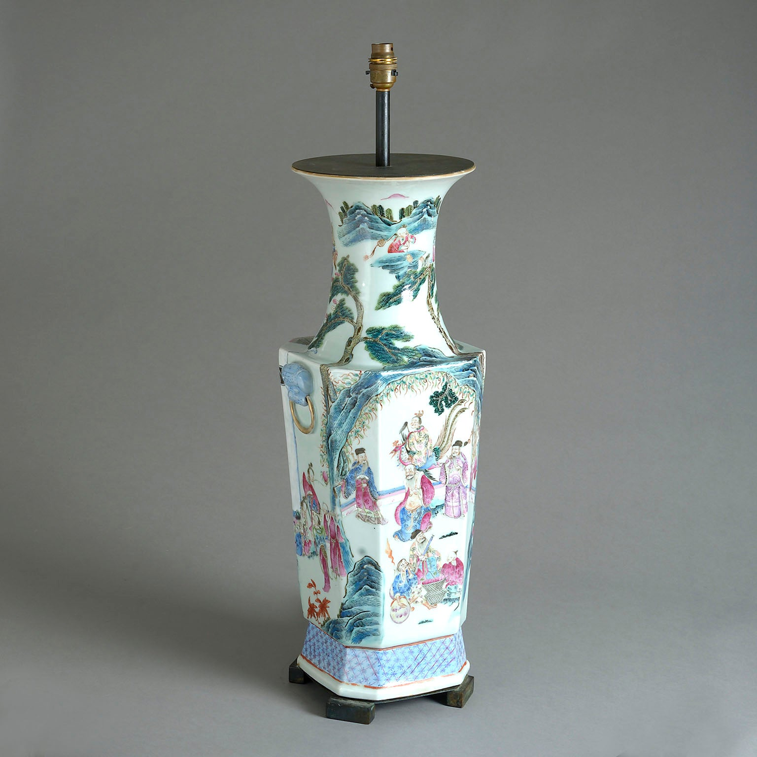 Chinese Famille Rose Vase of Large Size