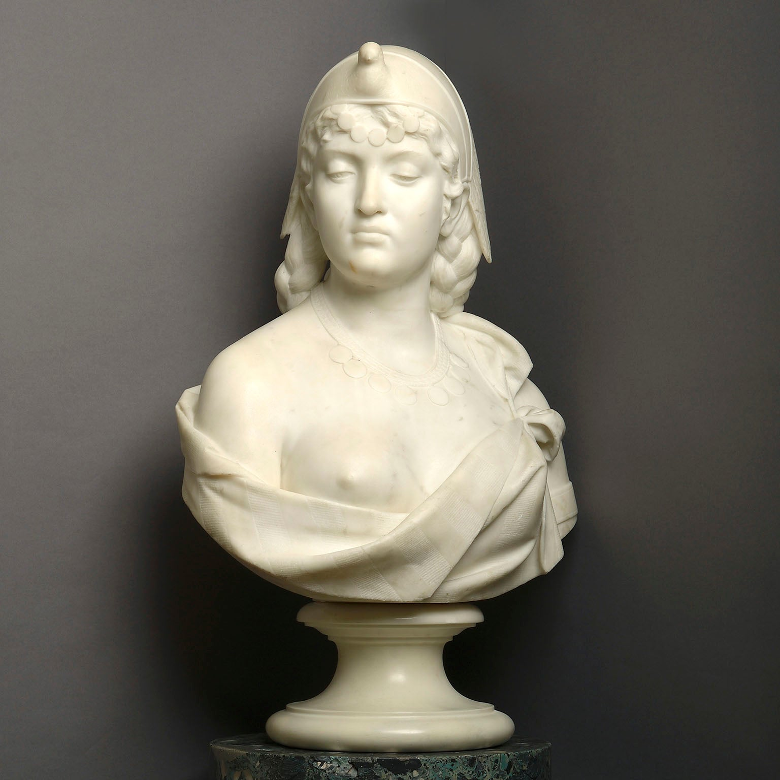 Statuary Marble Bust of Cleopatra