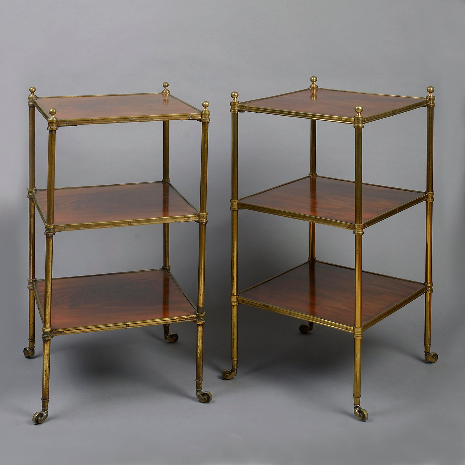 A Matched Pair of 3-tier Etageres