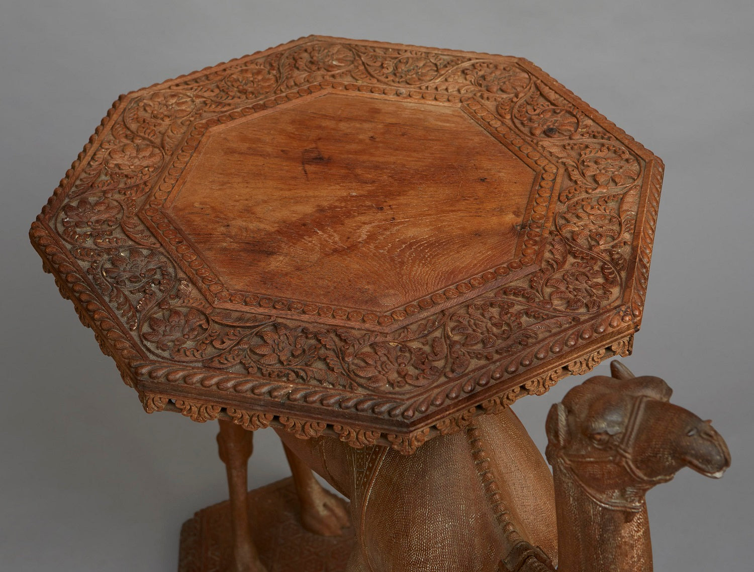 Anglo-Indian Hardwood Camel Table