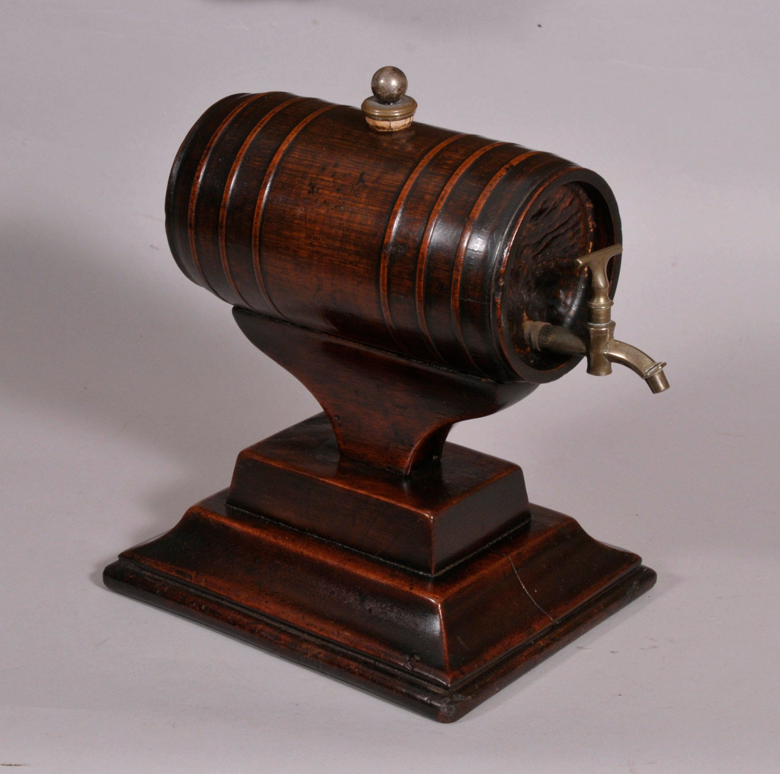 18th Century Anglo-Chinese Bamboo & Mahogany Spirit Barrel on Stand