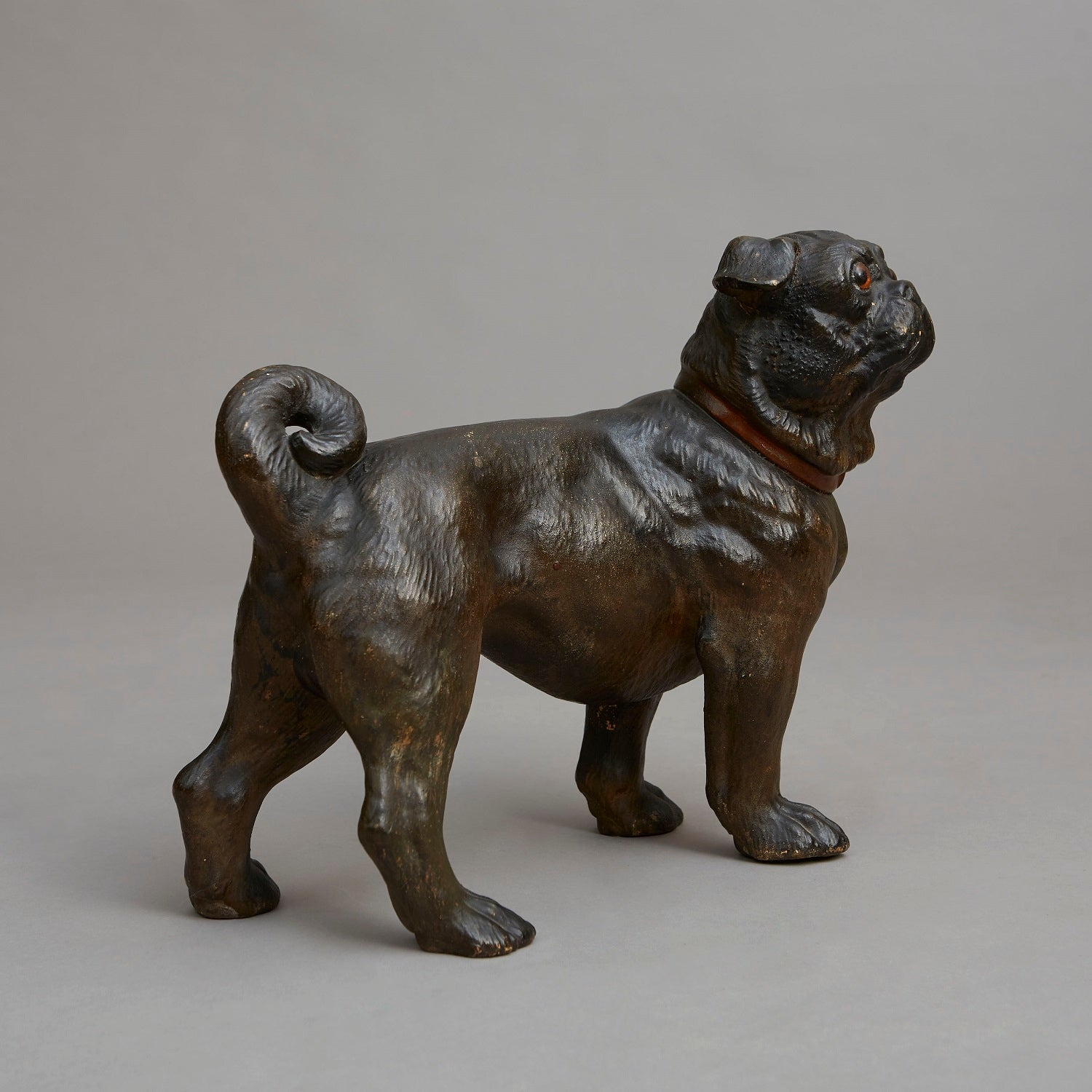 Near life size Standing Pug