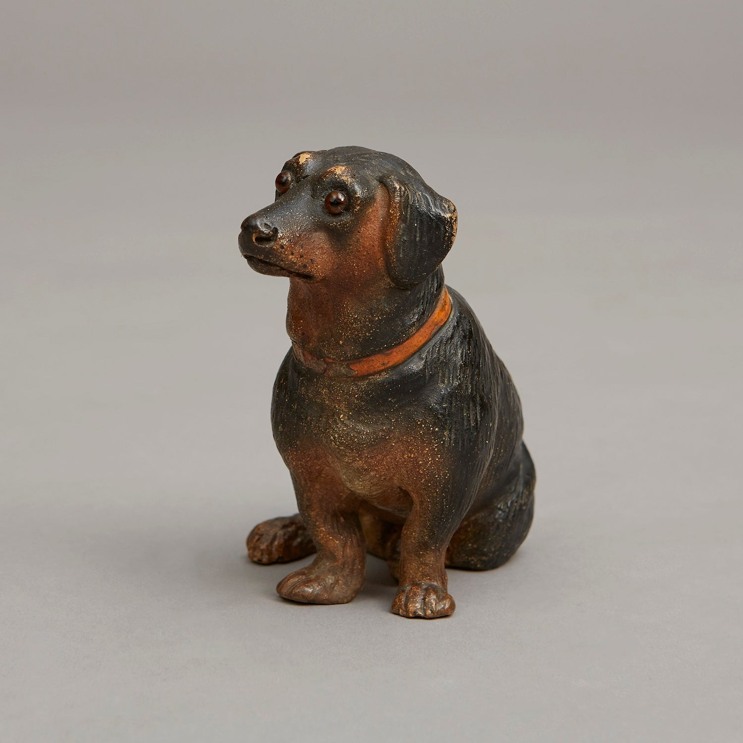 Cold Painted Terracotta Dachshund