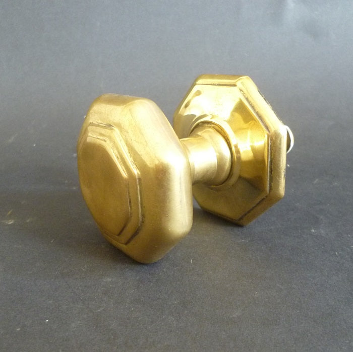 Edwardian Octagonal Centre Door Pull (2586)