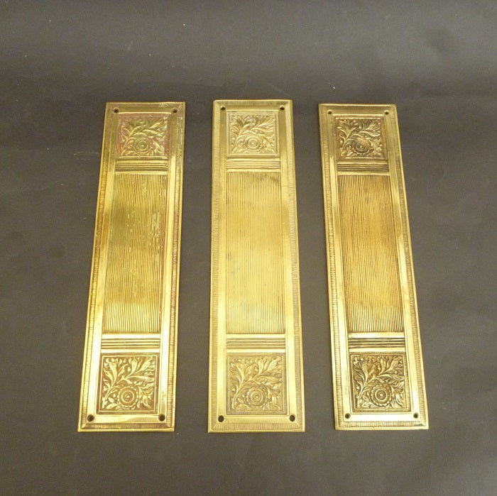 Set of 3 Neo-Classical Door Plates (3184)