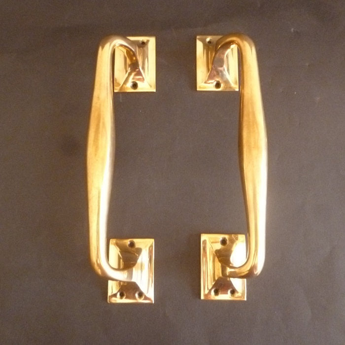 Pair of Victorian Bronze Door Pulls (3243)
