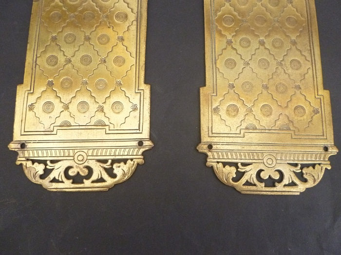 Pair of Georgian Engraved Door Plates (3256)