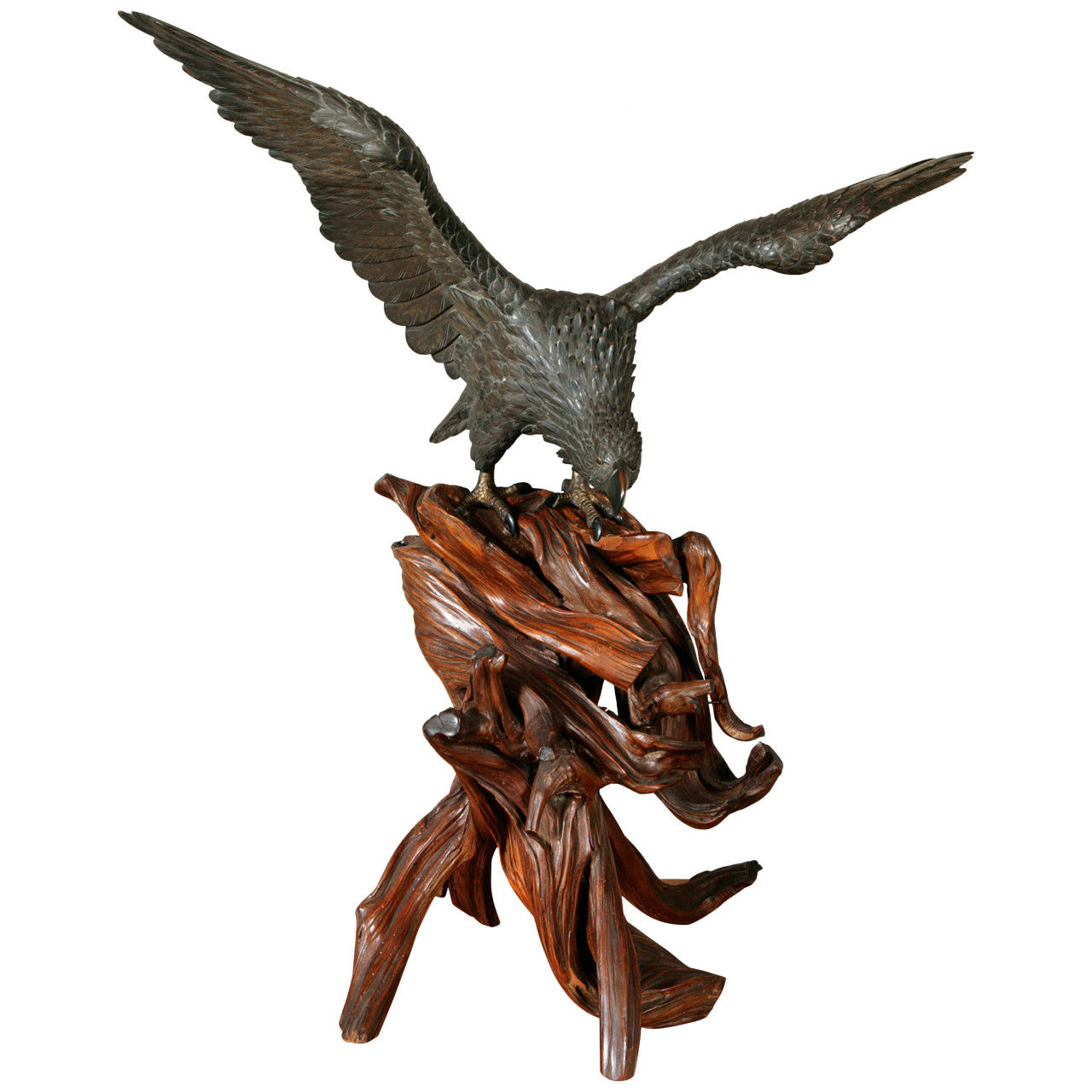 Japanese Bronze Eagle, Meiji Period, Circa 1880