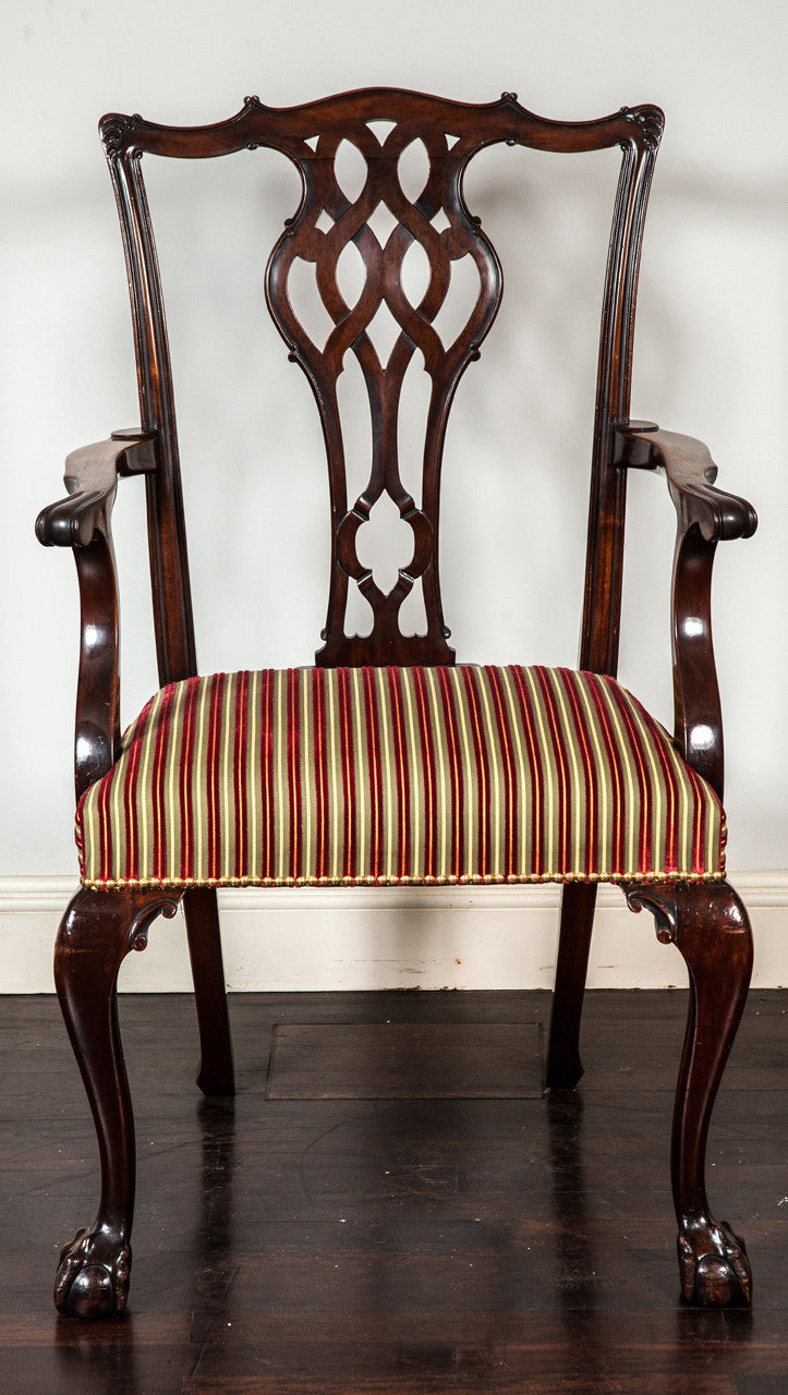 Set of 28 Dining Chairs in the Chippendale Taste, Circa 1900