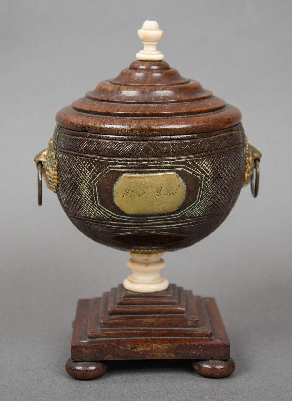 Coconut Shell Tea Caddy