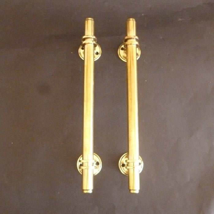 Pair of Art Deco Cylindrical Door Pulls (6549)
