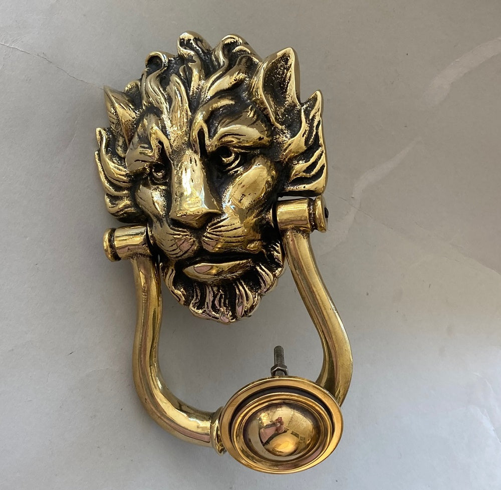 Large Victorian Lion Door Knocker (6551)