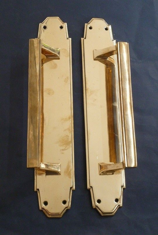 Pair of Art Deco Long Door Pulls (2452)