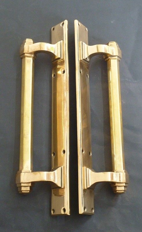Pair of Art Deco Long Door Pulls (1838)