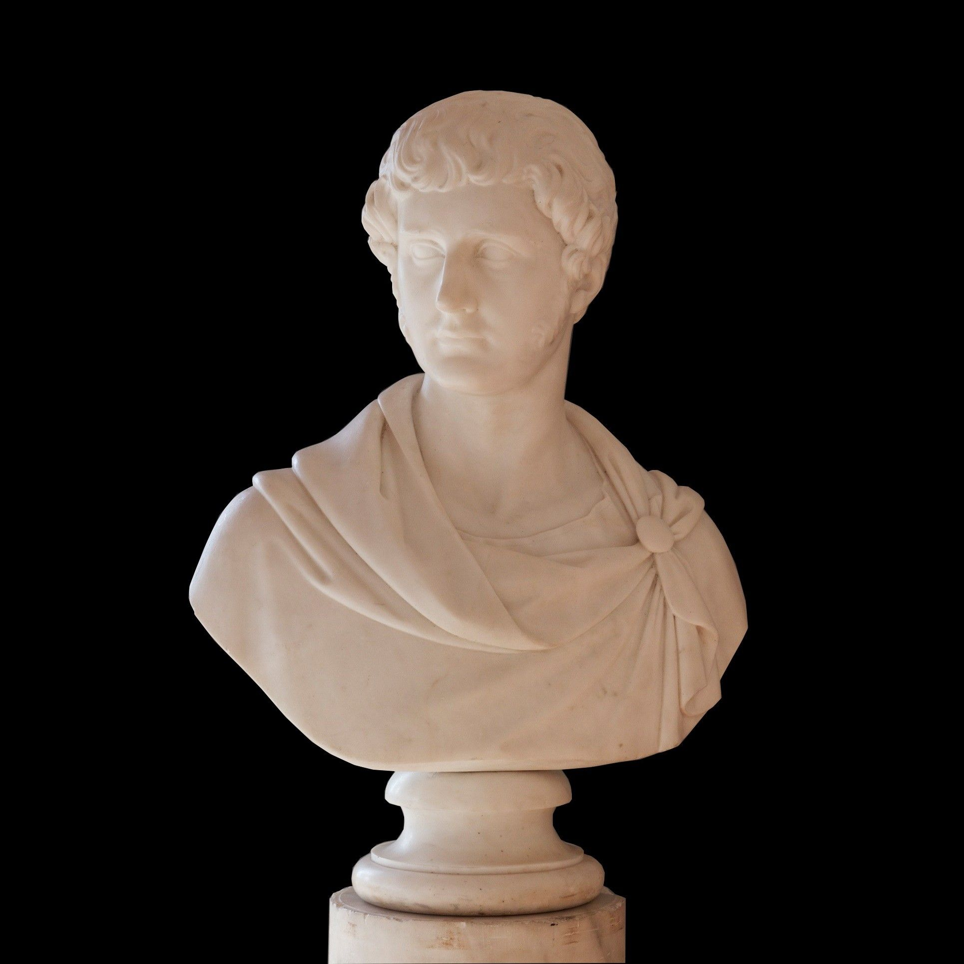 A MARBLE PORTRAIT BUST By Thomas Campbell (1790-1858) Rome, 1824