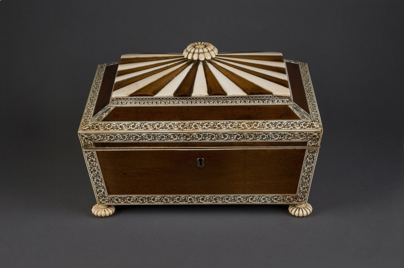 2.  Satinwood and Ivory Work Box