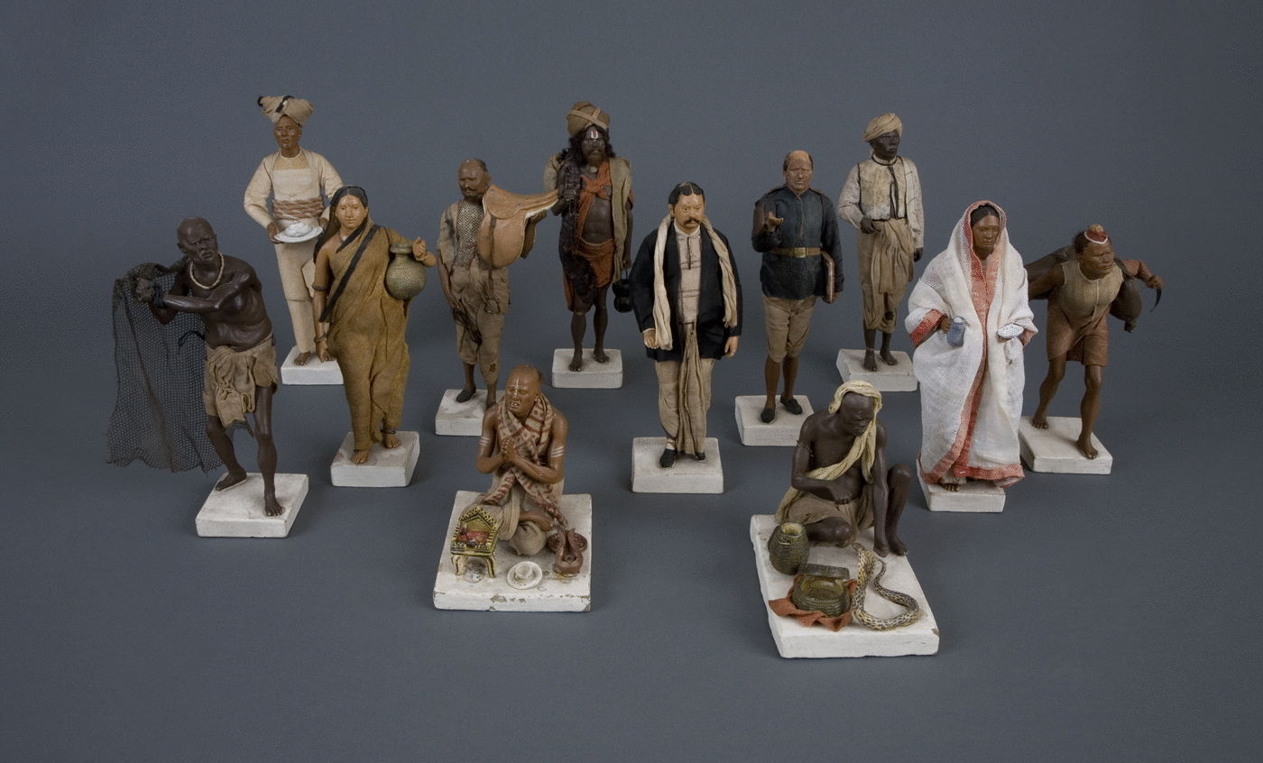 5.  A Group of Finely Modelled Clay Figures