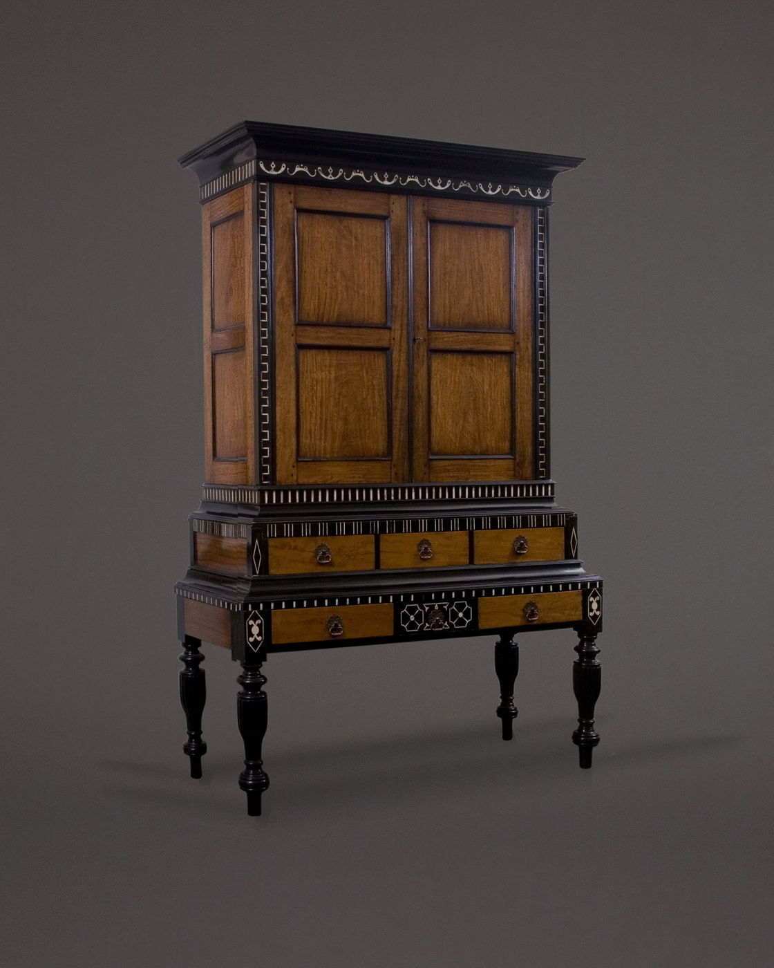 20.  A Cabinet On Stand Of Rare And Unusual Form