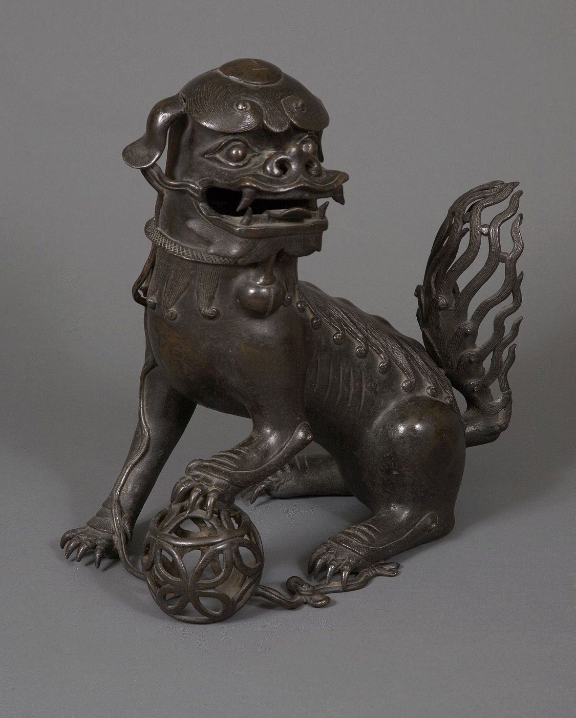 28.  A Chinese Bronze Censer In The Form Of A Buddhistic Lion