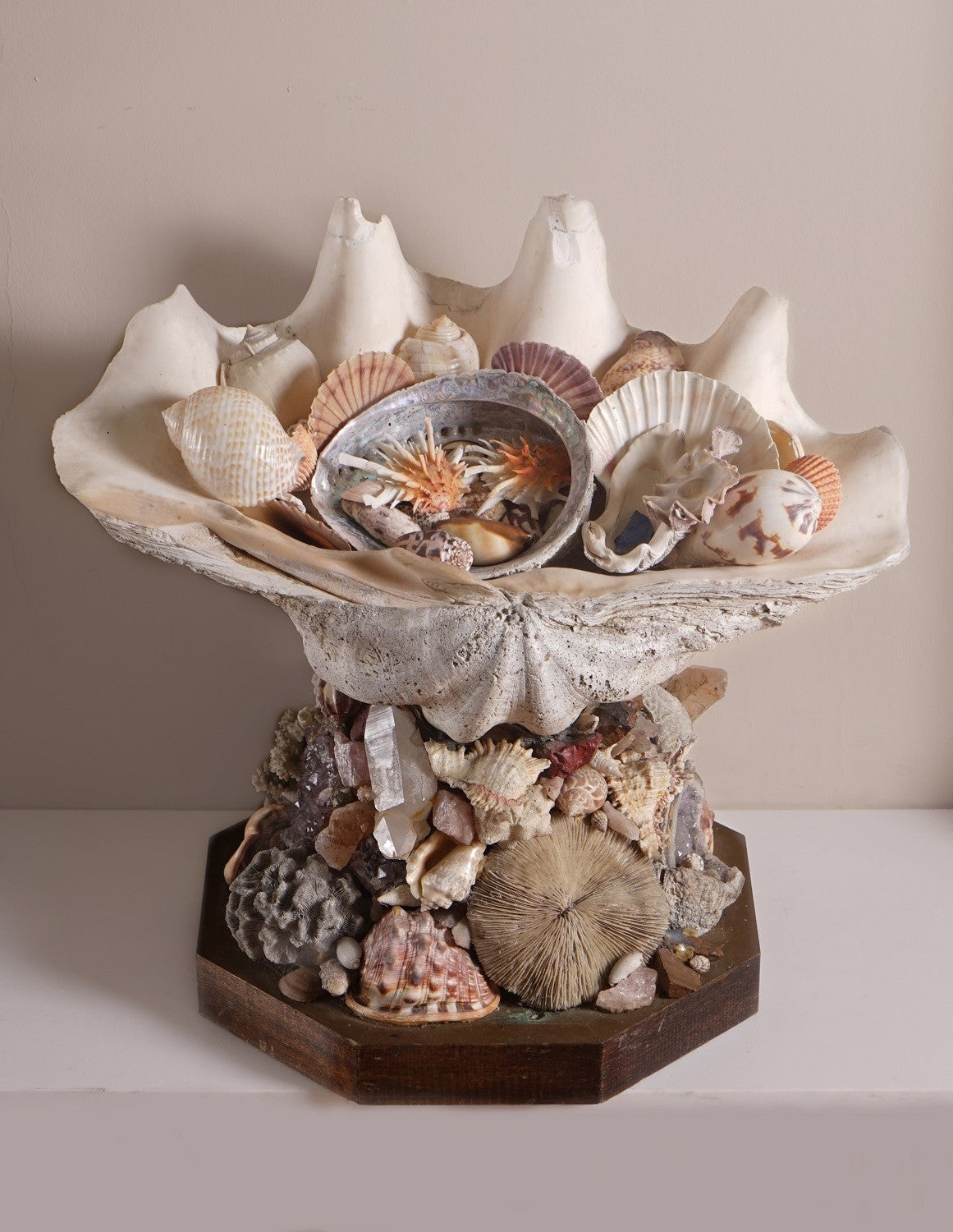 Exotic Shell and Mineral Centrepiece by Anthony Redmile