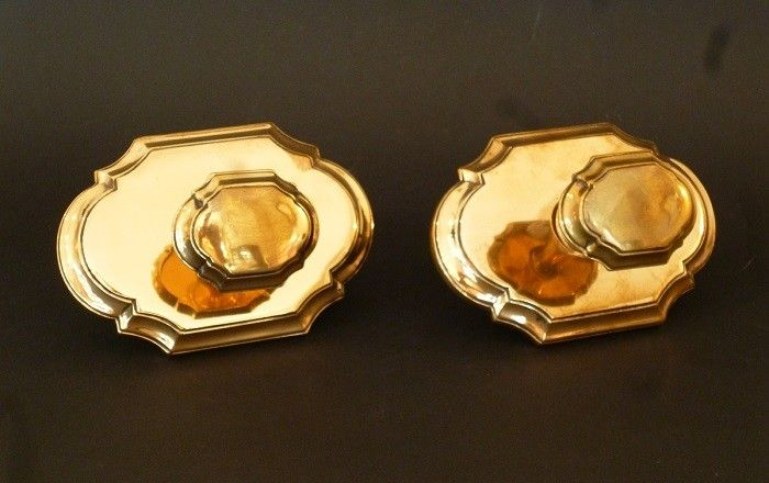 Pair of Edwardian Centre Door Pulls (1214)