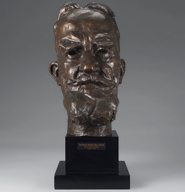 Bronze Bust of George Bernard Shaw by Sava Botzaris (1894-1965)