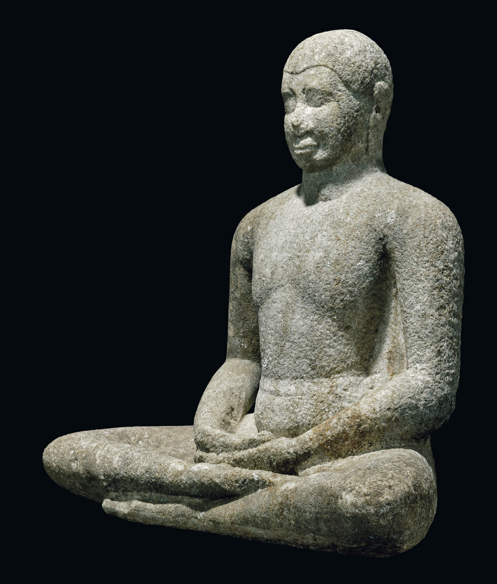 An Important Marble Figure of Buddha Shakyamuni