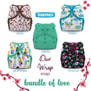 Thirsties Duo Wrap Covers Size 1 Bundle Packs
