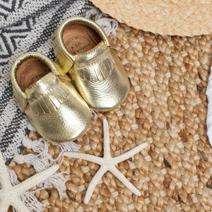 Rock Baby Moccasins - Gold