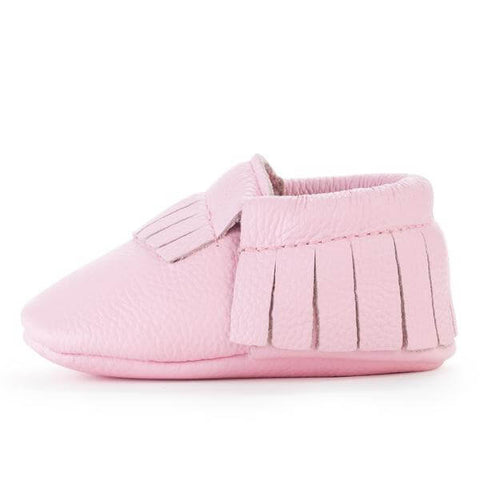 Bird Rock Baby Moccasins - Light Pink