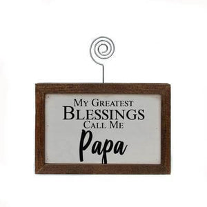 Greatest Blessings Wood Photo Signs