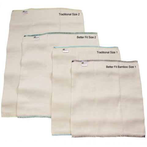Bamboo/Organic Cotton Prefold Diapers