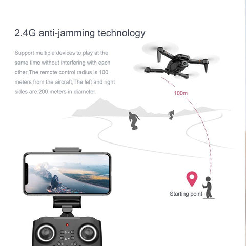 Mini Quadcopter Drone 4K HD Dual Camera - Toys Free Delivery