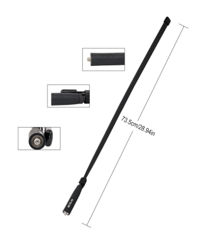 Foldable Tactical Walkie Talkie Long Range Antenna - ToysFreeDelivery