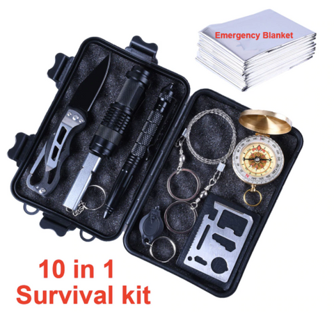 10 in 1 Camping & SOS Survival Kit - Toys Free Delivery