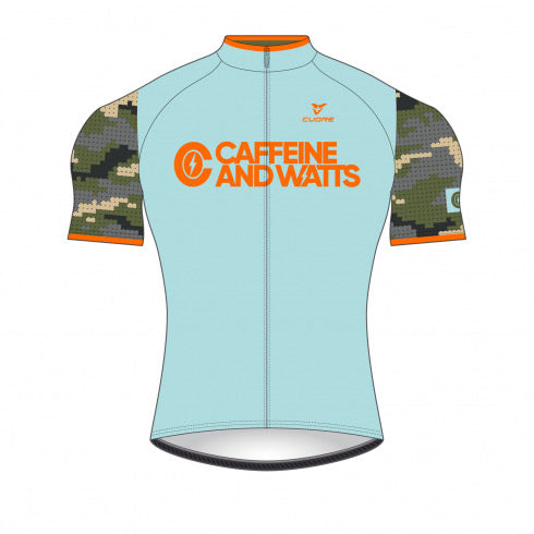 Caffeine & Watts Women's Cycling Jersey (Camo)